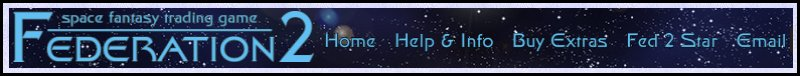 Banner and menu bar for Federation 2, the space trading game